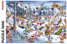 Piatnik - Christmas Skiing - 1000 stukjes