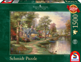 Thomas Kinkade - Hometown Lake - 1500 stukjes