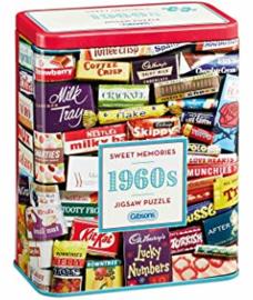Gibsons 3831 - 1960's Sweet Memories - 500 stukjes Gift Tin
