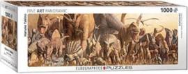 Eurographics Haruo Takino - Dinosaurs - 1000 stukjes  Panorama