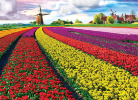 Eurographics 5326 - Tulip Fields Netherlands - 1000 stukjes