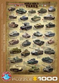 Eurographics 0388 - World War II Tanks - 1000 stukjes