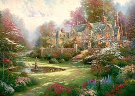 Thomas Kinkade - Gardens Beyond Spring Gate - 2000 stukjes