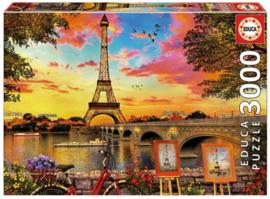 Educa - Zonsondergang in Parijs - 3000 stukjes