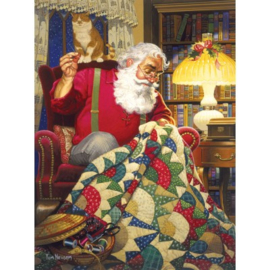 SunsOut 23328 Quilting Santa Quilts 1000 stukjes