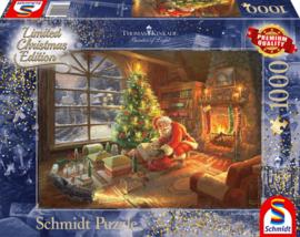 Thomas Kinkade - Santa Claus is Here - 1000 stukjes Limited Edition