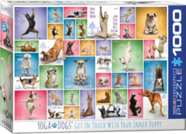 Eurographics 0954 - Yoga Dogs - 1000 stukjes