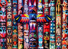 Eurographics 5349 - Canadian Totem Poles - 1000 stukjes