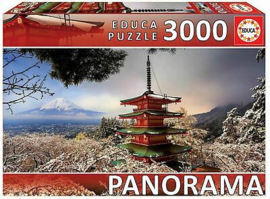 Educa - Mount Fuji and Chureito Pagoda, Japan - 3000 stukjes  Panorama