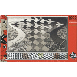Puzzelman M.C.Escher - Day and Night - 1000 stukjes