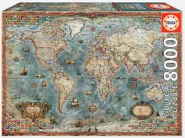 Educa - Historical World Map - 8000 stukjes