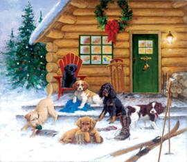 SunsOut 73410 - Christmas at the Cabin - 550 stukjes