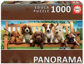 Educa - Puppies op de Bank - 1000 stukjes  Panorama