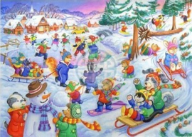 House of Puzzles - Fun In The Snow - 80XL stukjes