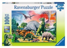 Ravensburger - Tussen de Dinosaurussen - 100XXL stukjes
