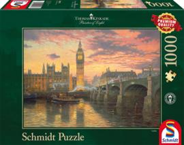 Thomas Kinkade - Evening Mood in London - 1000 stukjes