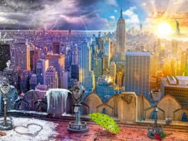Ravensburger - New York's Winters en Zomers - 1500 stukjes