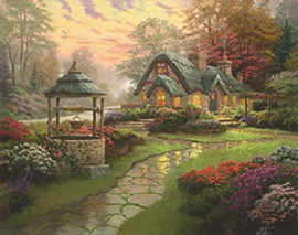 Thomas Kinkade - Make a Wish Cottage - 1000 stukjes