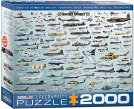 Eurographics 0578 - Evolution of Military Aircraft - 2000 stukjes
