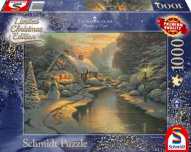 Thomas Kinkade - On Christmas Eve - 1000 stukjes Limited Edition