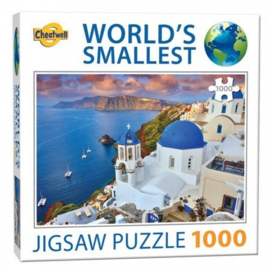 TFF World's Smallest - Santorini - 1000 stukjes  Minipuzzel