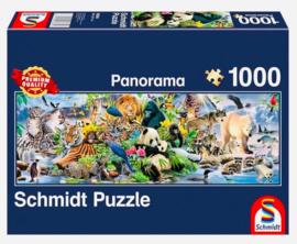 Schmidt - Kleurrijk Dierenrijk - 1000 stukjes  Panorama