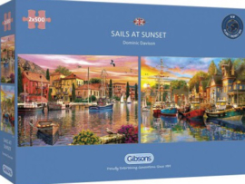 Gibsons 5054 - Sails at Sunset - 2x500 stukjes