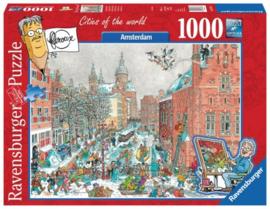 Ravensburger - Fleroux, Amsterdam in Winter - 1000 stukjes