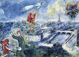 Eurographics Marc Chagall - Le Bouquet de Paris - 1000 stukjes