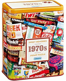 Gibsons 3832 - 1970's Sweet Memories - 500 stukjes Gift Tin