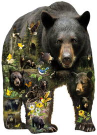 SunsOut 96033 - Forest Bear - 1000XL stukjes  Vormpuzzel
