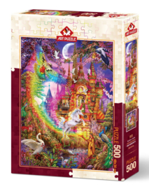 Art Puzzle - Rainbow Castle - 500 stukjes