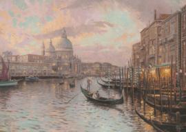 Thomas Kinkade - In de Straten van Venetie - 1000 stukjes (Glow in te Dark)