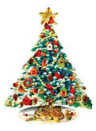 SunsOut 97120 - Forest Christmas - 1000 stukjes Vormpuzzel