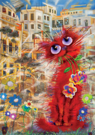 Art Puzzle - Red Cat - 260XL stukjes
