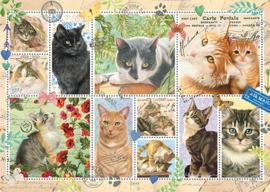 Jumbo - Francien's Katten Postzegels - 1000 stukjes