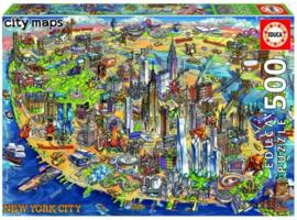 Educa - Kaart van New York - 500 stukjes