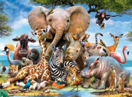 Ravensburger - Afrikaanse Vrienden - 300 stukjes