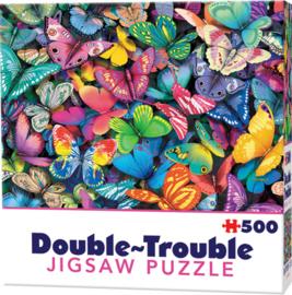 TFF Dubbelzijdige puzzel - Vlinders - 500 stukjes