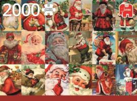 Jumbo Premium - Vintage Santa's - 2000 stukjes  OP=OP