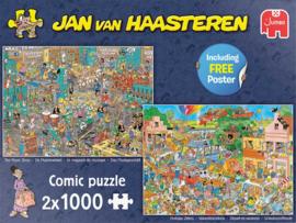 Jan van Haasteren - De Muziekwinkel + Vakantiekriebels - 2x1000 stukjes NU LEVERBAAR