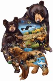 SunsOut 95732 - Bear Family Adventure - 1000 stukjes  Vormpuzzel