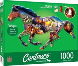 Master Pieces - Wild Horse - 1000 stukjes  Vormpuzzel
