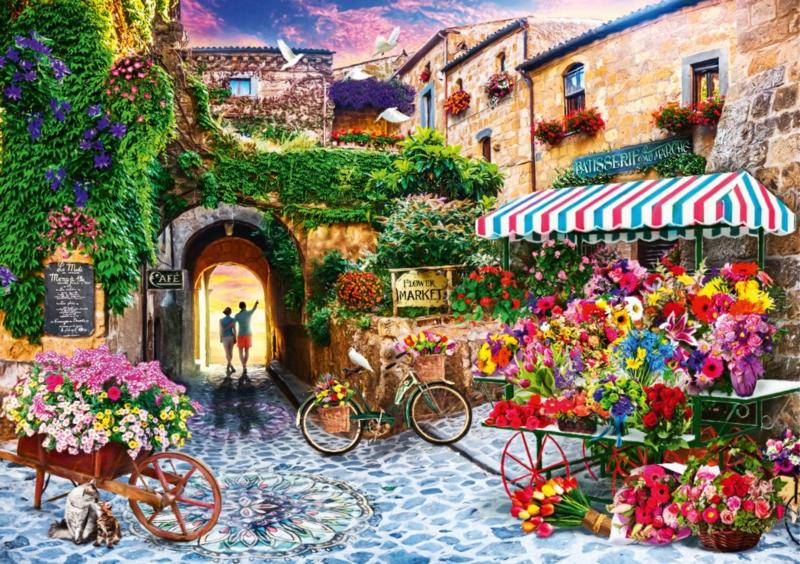 Bluebird - The Flower Market - 1000 stukjes