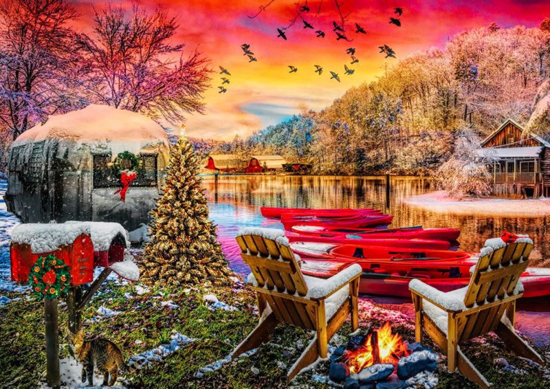Art Puzzle - Caravan Camp - 2000 stukjes
