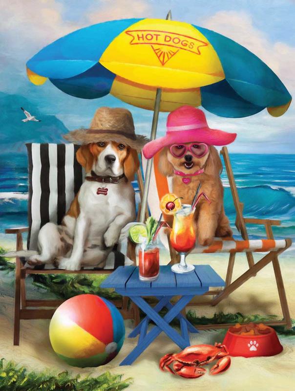 SunsOut 28884 - Beach Dogs - 300XL stukjes