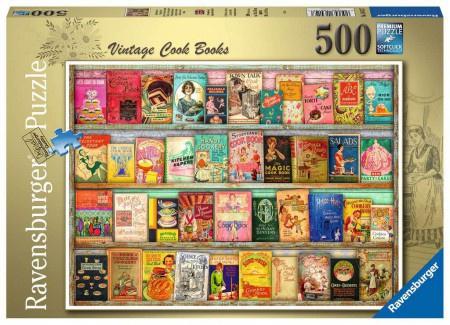 Ravensburger - Vintage Kookboeken - 500 stukjes