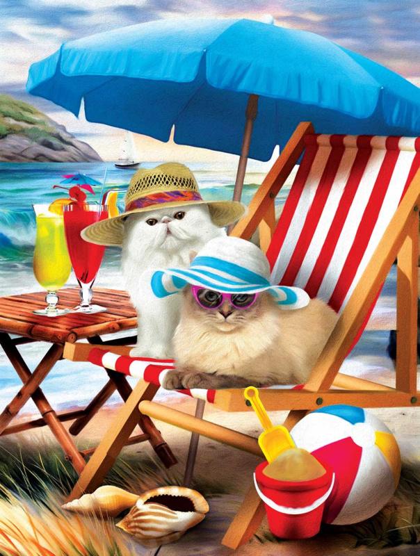 SunsOut 28865 - Beach Cats - 300XL stukjes