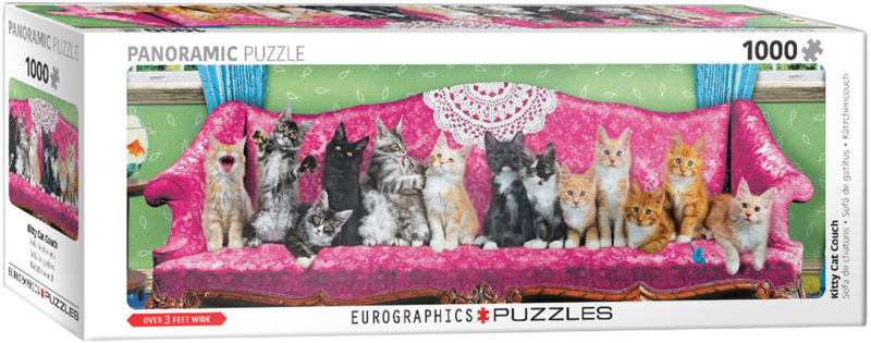 Eurographics - Kitty Cat Couch - 1000 stukjes  Panorama