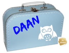 Koffertje naam en afbeelding